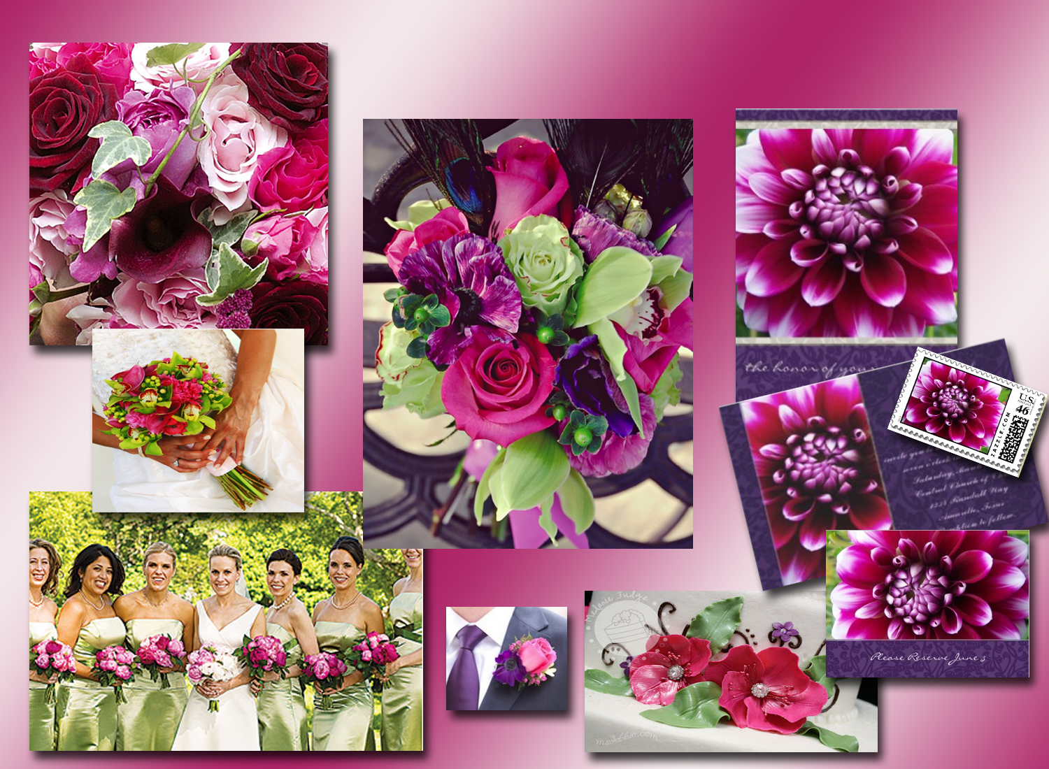 Hot Fuschia Pink and Purple Inspiration Board | River Jude